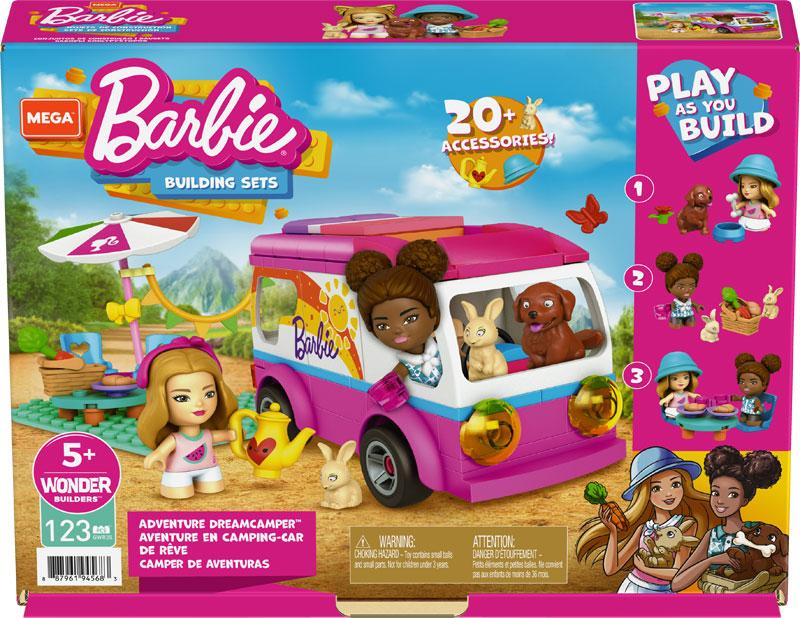 Wholesalers of Mega Construx Barbie Adventure Dreamcamper toys