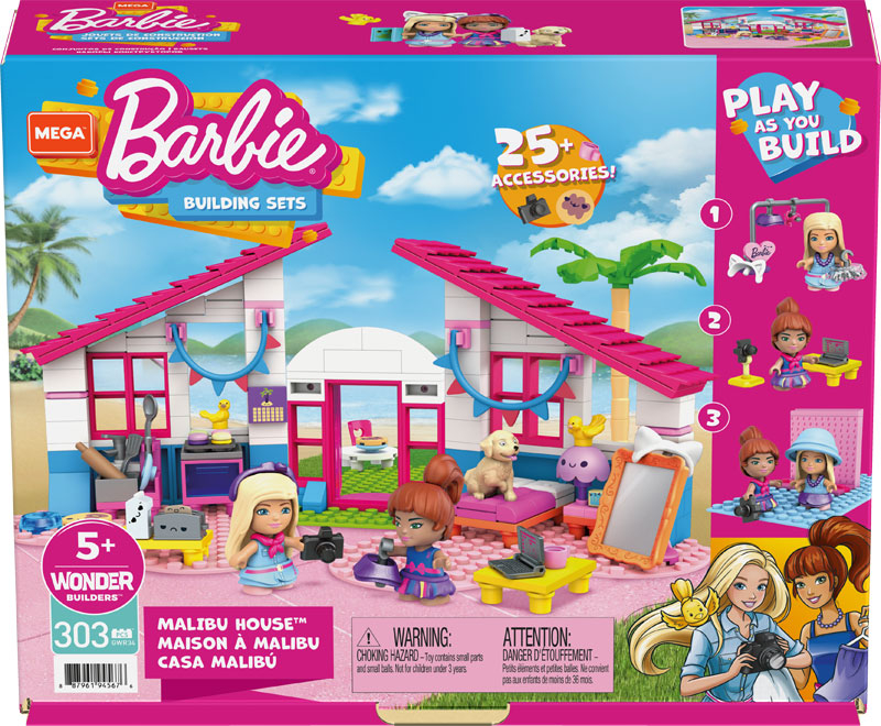 Wholesalers of Mega Construx Barbie Malibu House toys