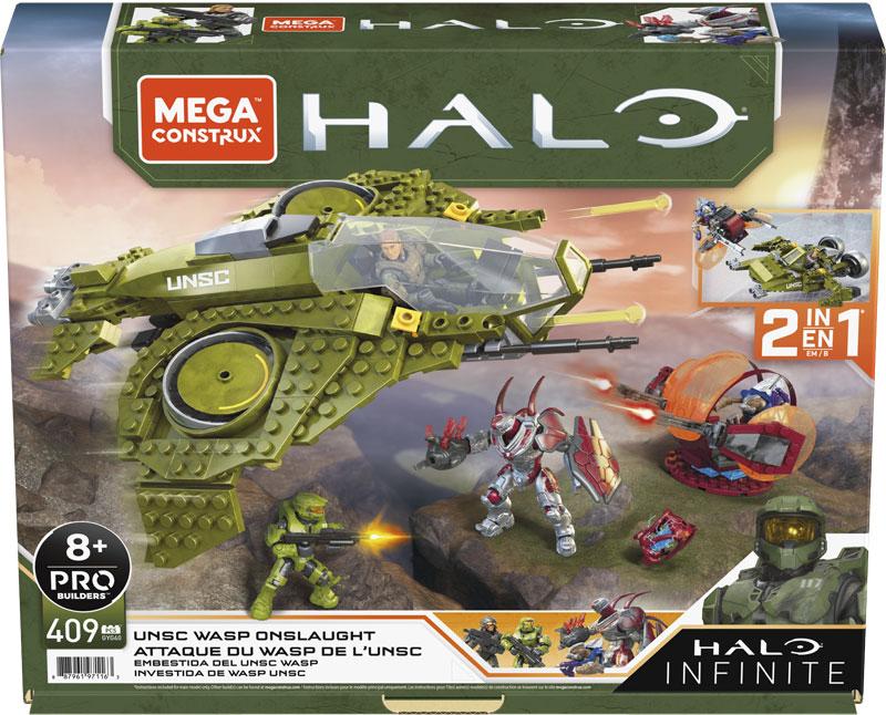 Wholesalers of Mega Construx Halo Unsc Wasp Onslaught Vehicle toys