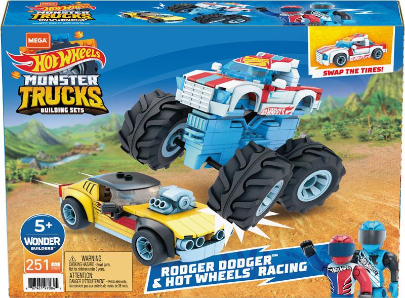 Wholesalers of Mega Construx Hot Wheels Rodger Dodger And Hot Wheels Racing toys