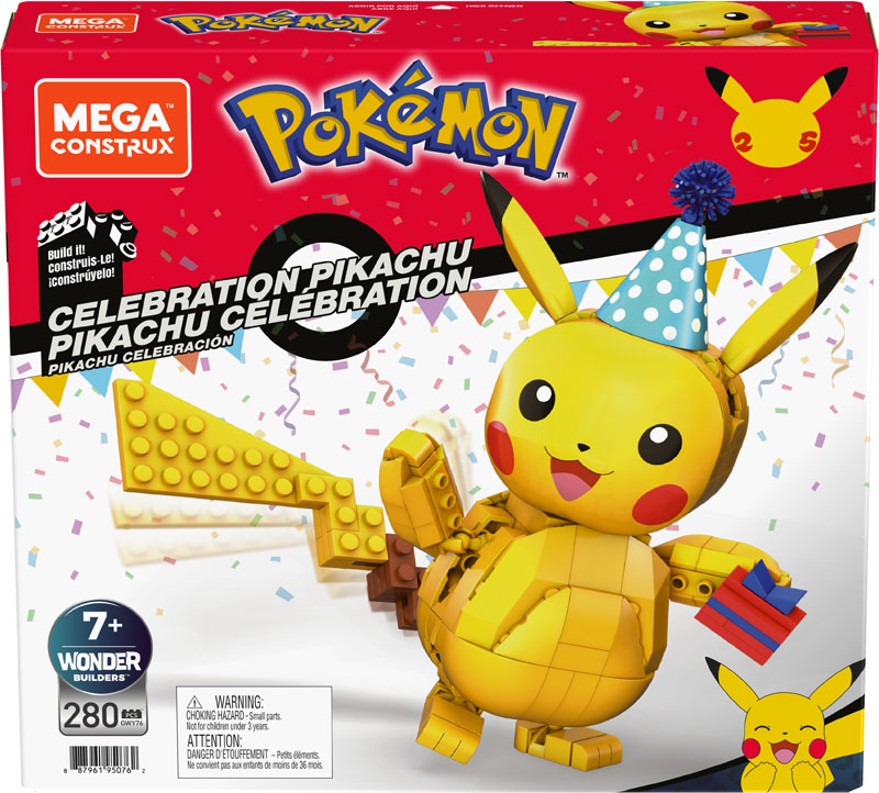 Wholesalers of Mega Construx Pokemon Celebration Pikachu toys