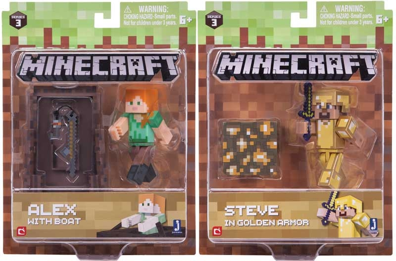 Minecraft 3 Inch Action Figures Asstd Wholesale