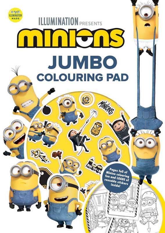 Wholesalers of Minions Jumbo Colouring Pad toys