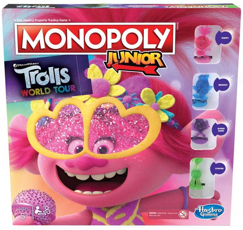Wholesalers of Monopoly Junior Trolls toys