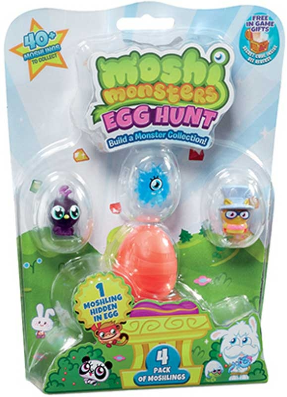 Wholesalers of Moshi Monsters Egg Hunt 4 Pack toys