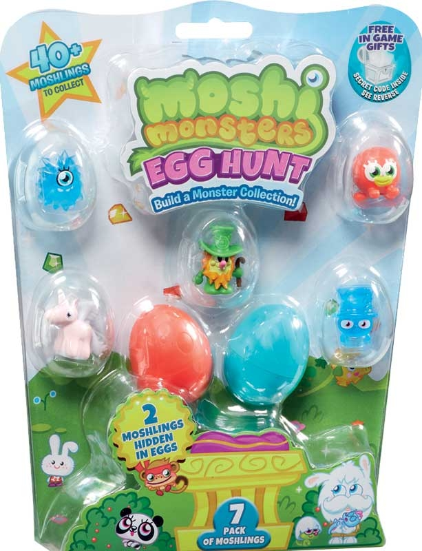 Wholesalers of Moshi Monsters Egg Hunt 7 Pack toys