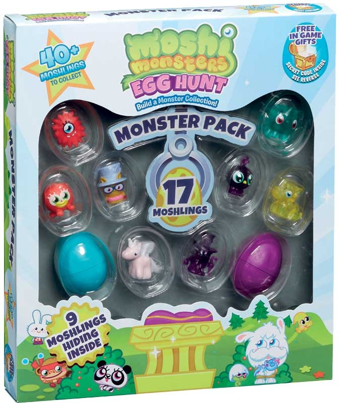 Wholesalers of Moshi Monsters Egg Hunt Monster Pack toys