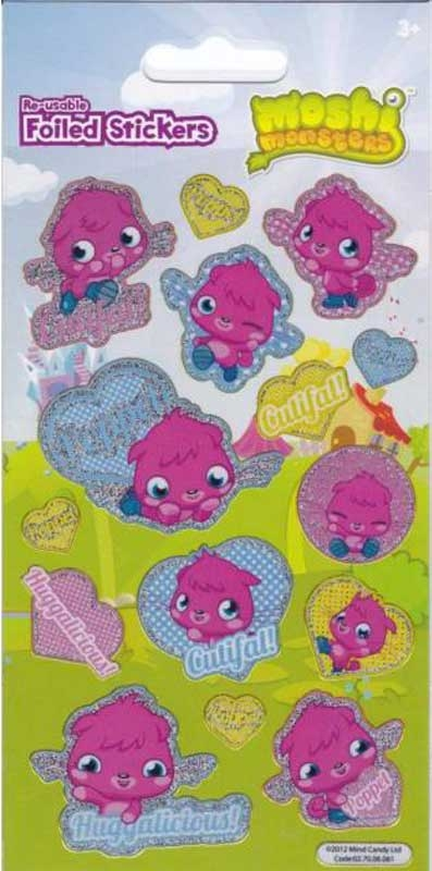 Wholesalers of Moshi Monsters Poppet Stickers toys
