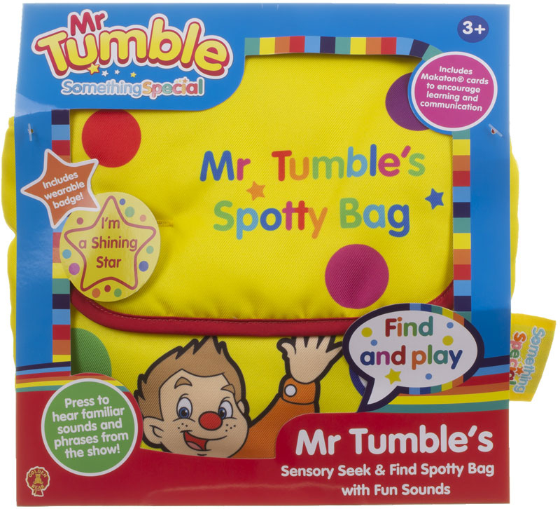 Wholesalers of Mr Tumbles Sensory Seek And Find Spotty Bag toys