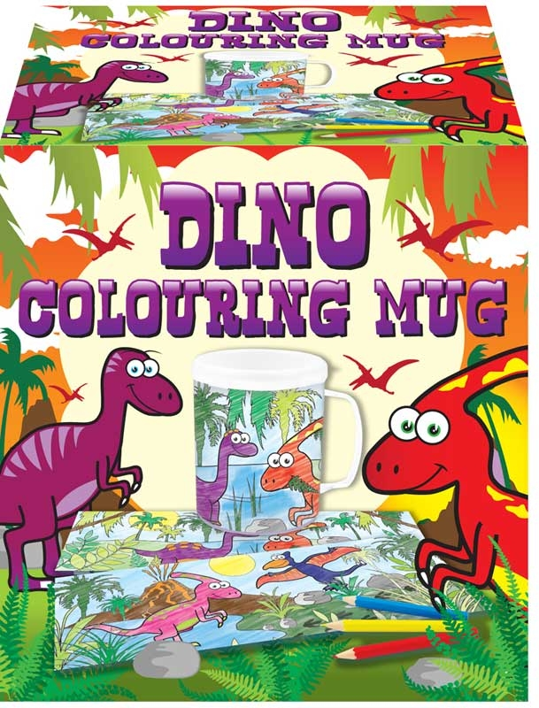 Wholesalers of Mug Colouring Dinosaur Asst toys