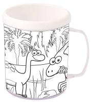 Wholesalers of Mug Colouring Dinosaur Asst toys image 2