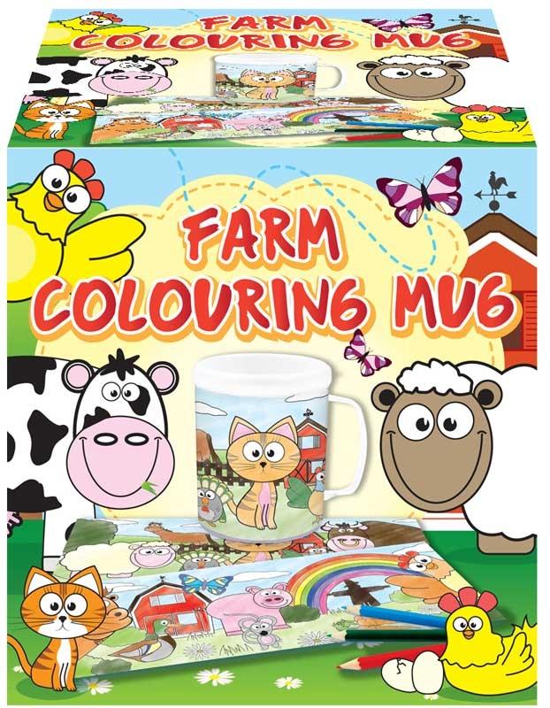 Wholesalers of Mug Colouring Farm Asst toys