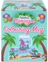Wholesalers of Mug Colouring Flamingo Asst toys image