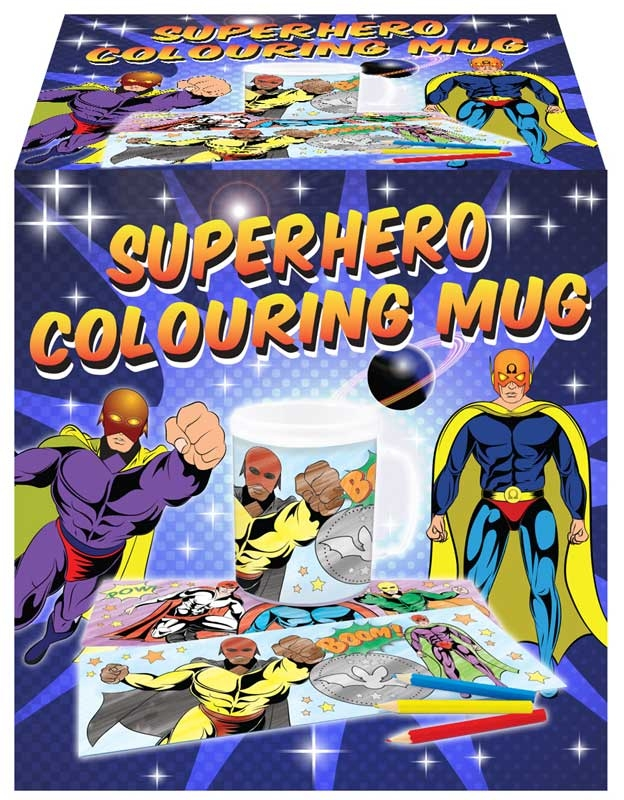 Wholesalers of Mug Colouring Super Hero Asst toys