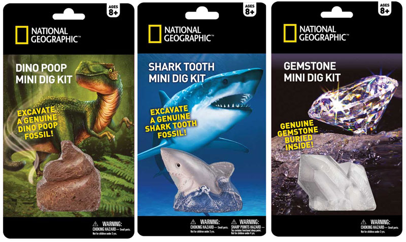 Wholesalers of National Geographic Mini Dig Kit Asst toys