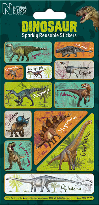 Wholesalers of Natural History Museum Dinosaurs Caption Stickers toys