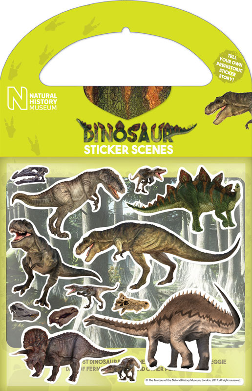 Wholesalers of Natural History Museum Dinosaurs Sticker Scene Stickers toys