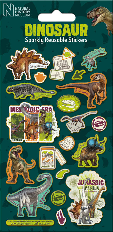 Wholesalers of Natural History Museum Dinosaurs Stickers toys