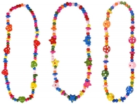 Wholesalers of Necklace Wood Bead 40cm toys image