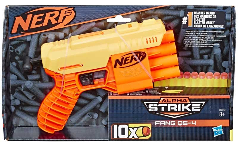 Wholesalers of Nerf Alpha Strike Fang Qs 4 toys
