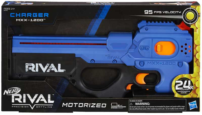 Wholesalers of Nerf Rival Charger Mxx 1200 Blue toys