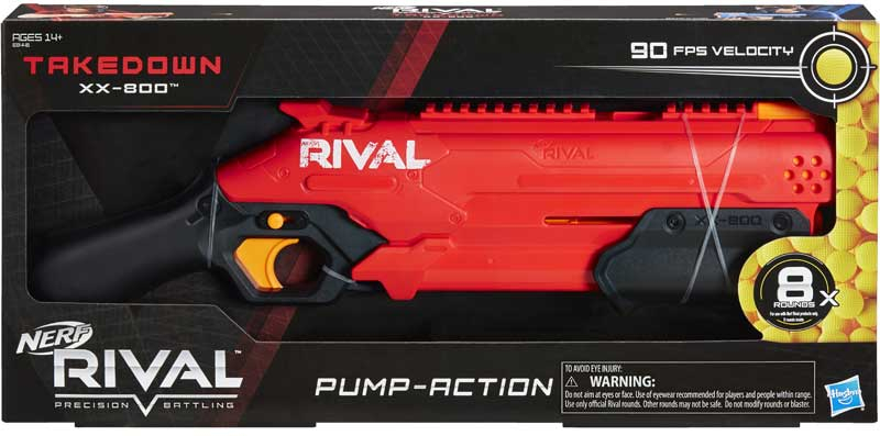 Wholesalers of Nerf Rival Takedown Xx 800 Red toys