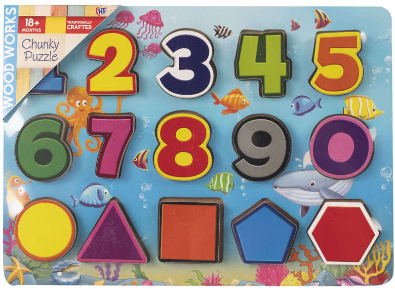 Wholesalers of Numbers Chunky Puzzle toys