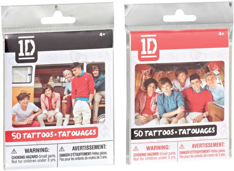 Wholesalers of One Direction Tattoos toys