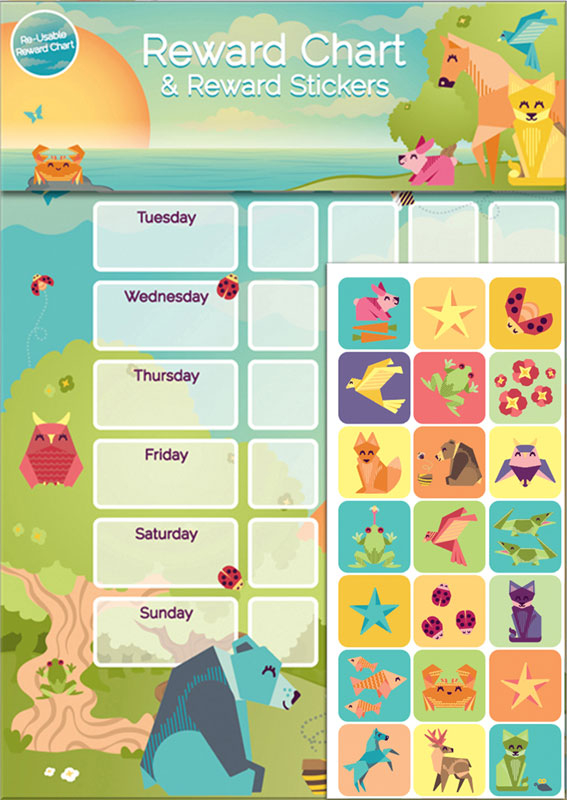 Wholesalers of Origami Friends Reward Chart And Stickers toys