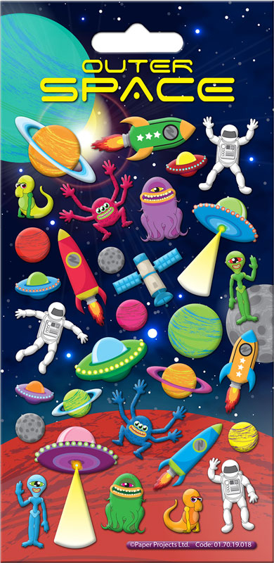 Wholesalers of Outer Space Stickers toys