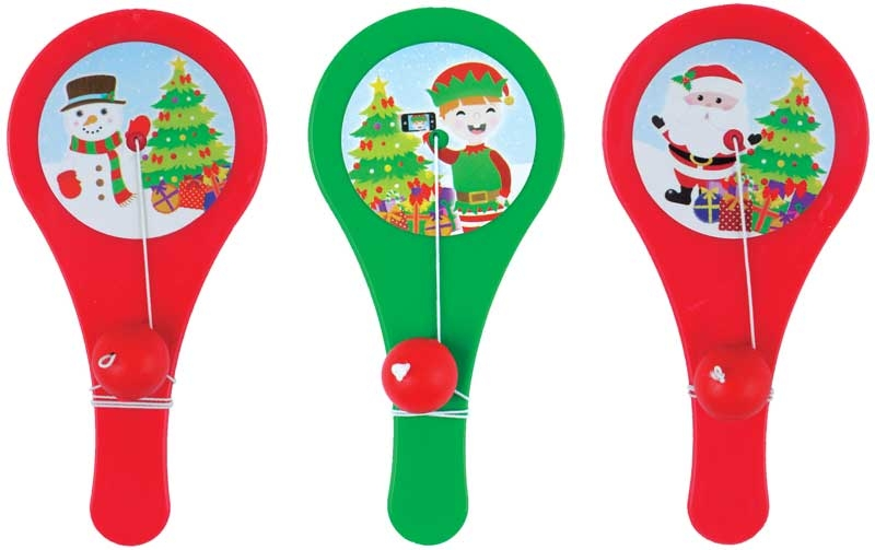 Wholesalers of Paddle Bat N Ball Christmas 12cm toys