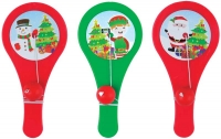 Wholesalers of Paddle Bat N Ball Christmas 12cm toys image