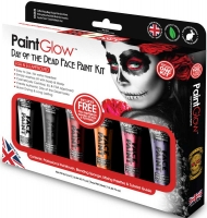 Wholesalers of Paint Glow Day Of The Dead Face Paint Kit toys image