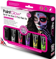 Wholesalers of Paint Glow Day Of The Dead Uv Face Paint Kit toys image