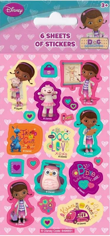 Wholesalers of Disney Doc Mcstuffins 6 Sheet Party Stickers toys