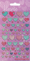 Wholesalers of Pattern Hearts Sparkle Stickers toys image