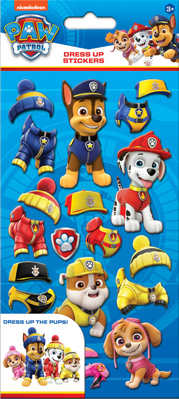 Wholesalers of Paw Patrol Dress Up Stickers toys