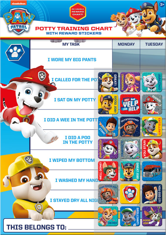 Wholesalers of Paw Patrol Potty And Toilet Reward Chart And Stickers toys