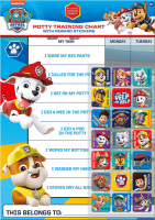 Wholesalers of Paw Patrol Potty And Toilet Reward Chart And Stickers toys Tmb