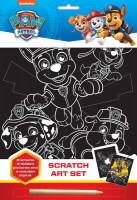 Wholesalers of Paw Patrol Scratch Art Set toys image