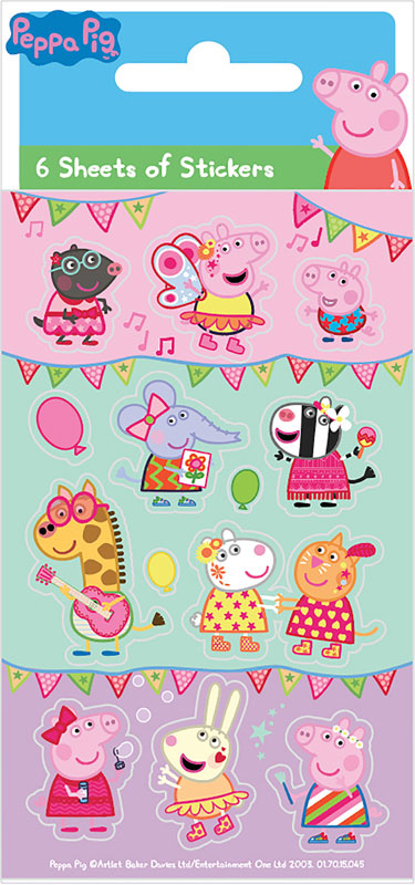 Wholesalers of Peppa Carnival Party - 6 Sheets Stickers toys