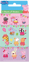 Wholesalers of Peppa Carnival Party - 6 Sheets Stickers toys image