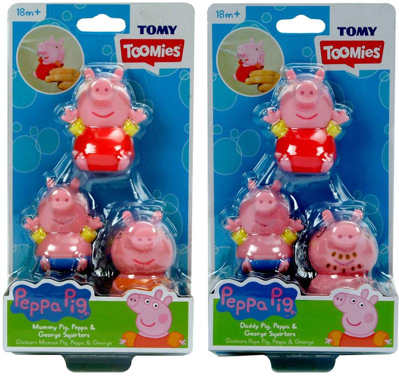 Wholesalers of Peppa Family Squirters toys