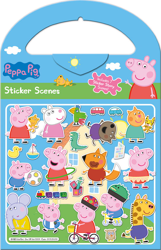Wholesalers of Peppa Pig - Sticker Scene Stickers toys