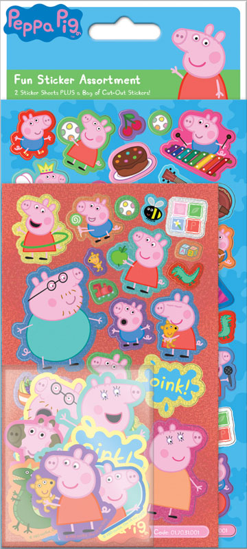 Wholesalers of Peppa Pig  Assortment Pack Stickers toys