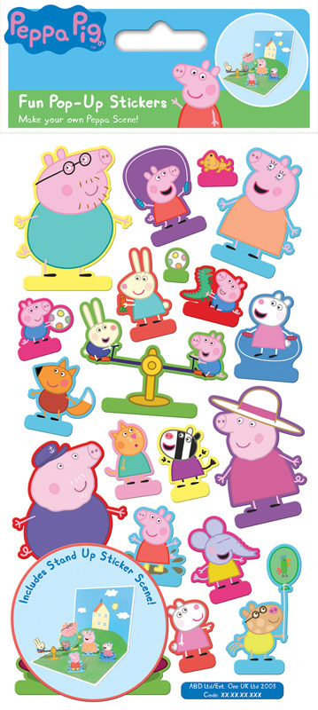 Wholesalers of Peppa Pig  Pop Up Stickers Stickers toys