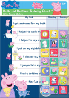 Wholesalers of Peppa Pig Bath And Bedtime Reward Chart And Stickers toys image