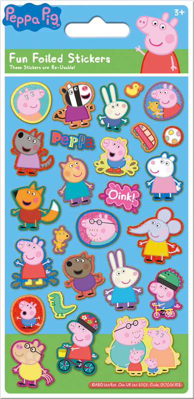 Wholesalers of Peppa Pig Blue Foil Stickers toys