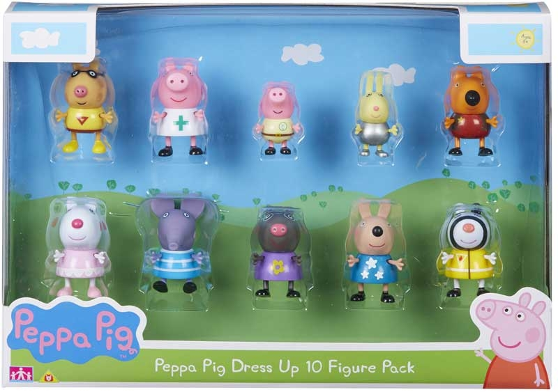 Wholesalers of Peppa Pig Dress-up 10 Figure Pack toys