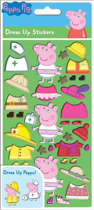Wholesalers of Peppa Pig Dress Up Stickers toys